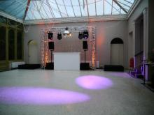 DJ stage for parties and weddings