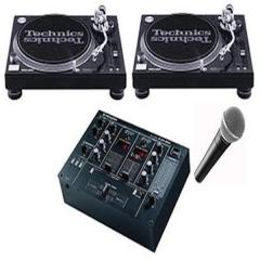 Technics 1210's, CDJ800, DJ equipment